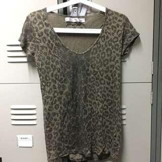Zara leopard sleeve