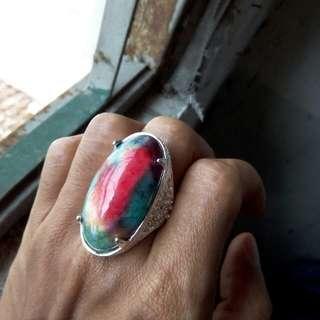 Batu cincin pancawarna garut merah cabe merona