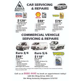 CAR AND COMMERCIAL VEHICLE SERVICING