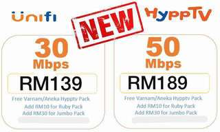 10mbps and 30mbps unifi promo item