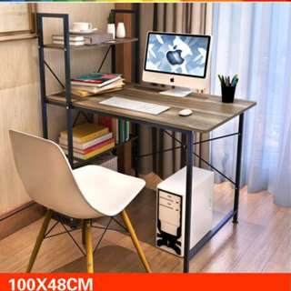 Modern Home Office Table, Study table, with 3 shelf include delivery