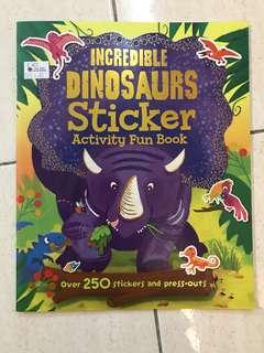 Incredible Dinosaurs Sticker Activity Fun Book