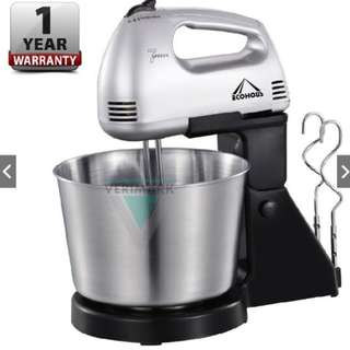 Detachable 7 Speed Hand Stand Mixer w/ Stainless Steel Bowl (1 YEAR WARRANTY)