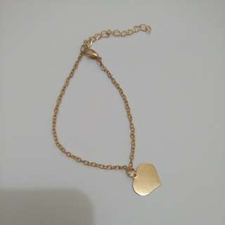 Heart Bracelet/anklet with flaws