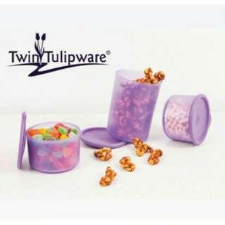 Medium Snack Time Twin Tulipware Toples Set