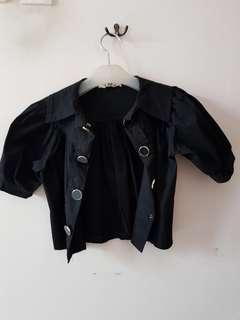 Black blazer crop