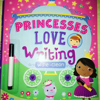 Princesses love Writing wipe and clean