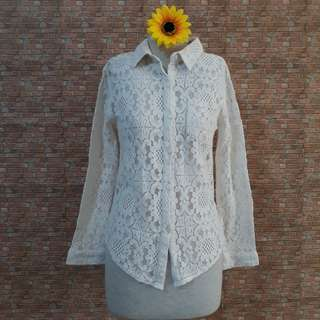 KOREAN LACED BLOUSE S/M