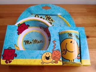 Mr Men - Plate, Bowl & Cup