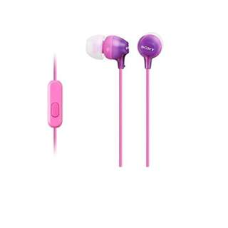 Sony MDREX15AP/ B HEADPHONES pink with case