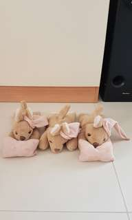 Rabbit Soft Toy - x 3 pcs