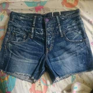 日本女裝牌子Antgauge水洗大碼牛仔短褲