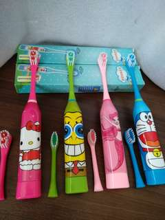 Simple electric toothbrush for kids children boy girl *FREE mail for 2 sets and above*