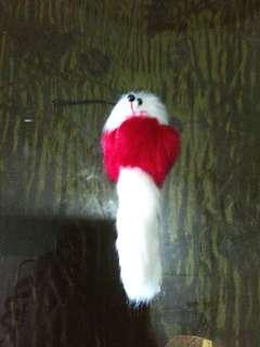 Puppy keychain with cellphone strap
