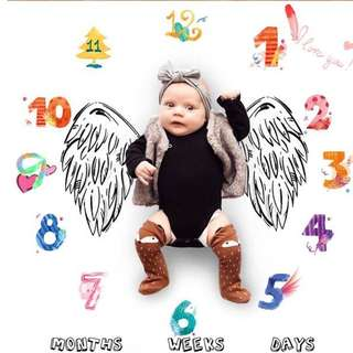 Gina Baby Photo Prop Mat for month year age milestone