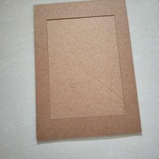 cardboard photo frame, 7 inch