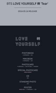 "bts love yourself ""tear"""