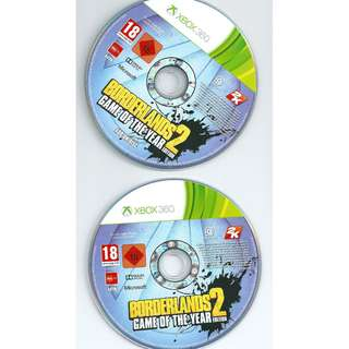 Preowned game discs Borderlands 2 *Discs Only No Case Covers Booklets etc*