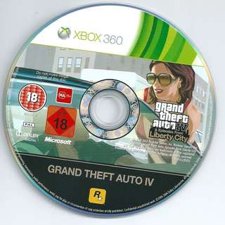 Preowned game disc GTA Grand Theft Auto IV *Disc Only No Case Covers Booklets etc*