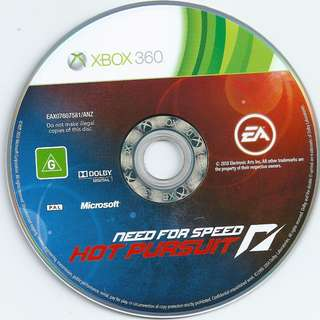 Preowned game disc Need for Speed Hot Pursuit *Disc Only No Case Covers Booklets etc*