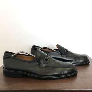 Black Salvatore Ferragamo Horsebit Loafers for Men