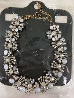 White collar necklace