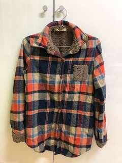 🚚 🌿全賣場一件$80🌿內鋪毛格子襯衫