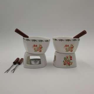 Mini Chocolate Fondue Set