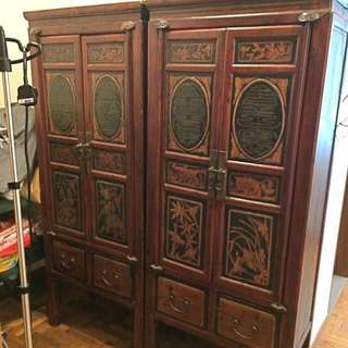 Beautiful antique cabinet ($1,500) each