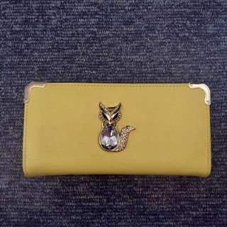 brand new yellow wallet