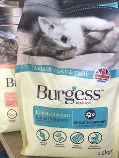 Burgess cat food 1.4kg/1.5kg