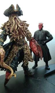 Davy Jones & Darth Maul figures!