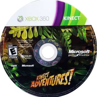 Preowned game disc Xbox 360 Kinect Adventures *Disc Only No Case Covers Booklets etc*