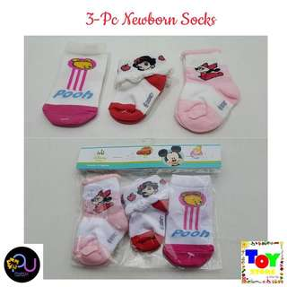 3pc Newborn Socks Disney Babies