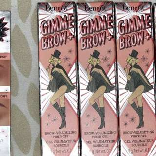 Benefit Cosmetics GIMME BROW + VOLUMIZING EYEBROW GEL FULL SIZE [You Choose Shade] BRAND NEW & AUTHENTIC, Price is Firm