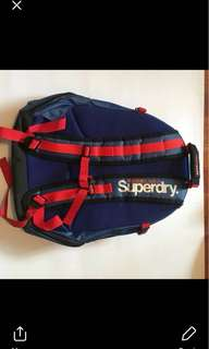 Original Superdry Backpack in Blue ONHAND