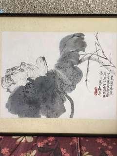台湾书画家吳平34x46cm Chinese painting