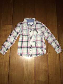 H&M 3-4y Plaid Cotton Polo for Girls