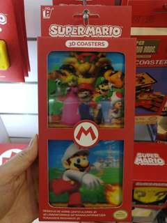 (Brand New) Official Licensed Super Mario 3D Coasters
