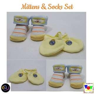 Lion Mittens and Socks set