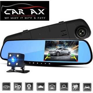 Dashcam dash cam with back cam dual lens
