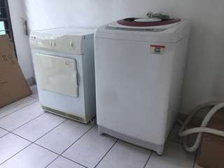 9kg toshiba washing machine and fagor dryer