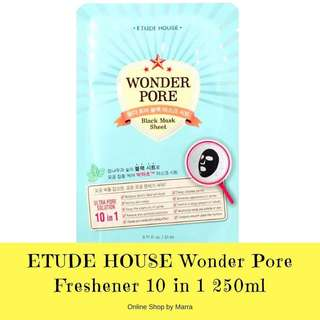AUTHENTIC ETUDE HOUSE WONDER PORE BLACK MASK SHEET