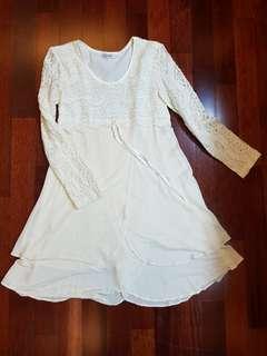 Baby Doll Mini Dress warna Cream