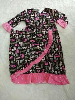 baju muslim anak + kerudung