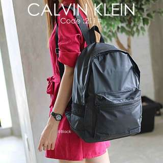 Backpack CALVIN KLEIN 211#p  Quality : Semprem Material : Oxford Parachute Ready 3 colours :  - Black - Blue - Gray Double functions : Backpack & Totes  Weight : 0,55 kg  H 190rb