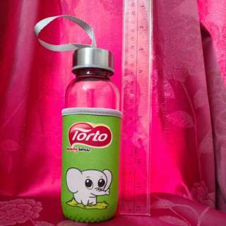 Elephant glass bottle travel