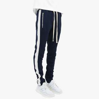 MNML Track Pants Navy White
