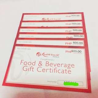 3,000 worth Food Voucher at Resorts World Manila