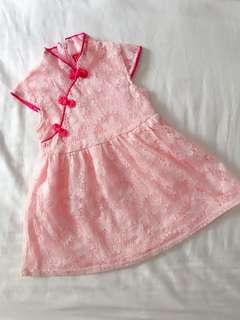 Beautiful Pink Cheongsam Dress